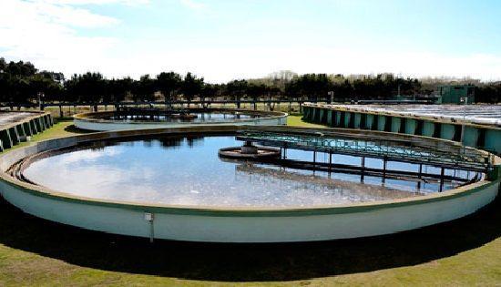 Tanque para la sedimentacion en una planta de tratamiento de agua